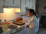 Becca prepares Jesus Meal
